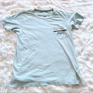 VS PINK Campus Short Sleeve Logo Pocket Tee